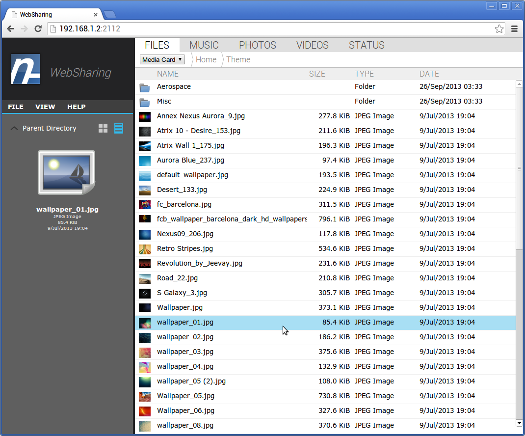 app websharing 2 0 view transfer files me android