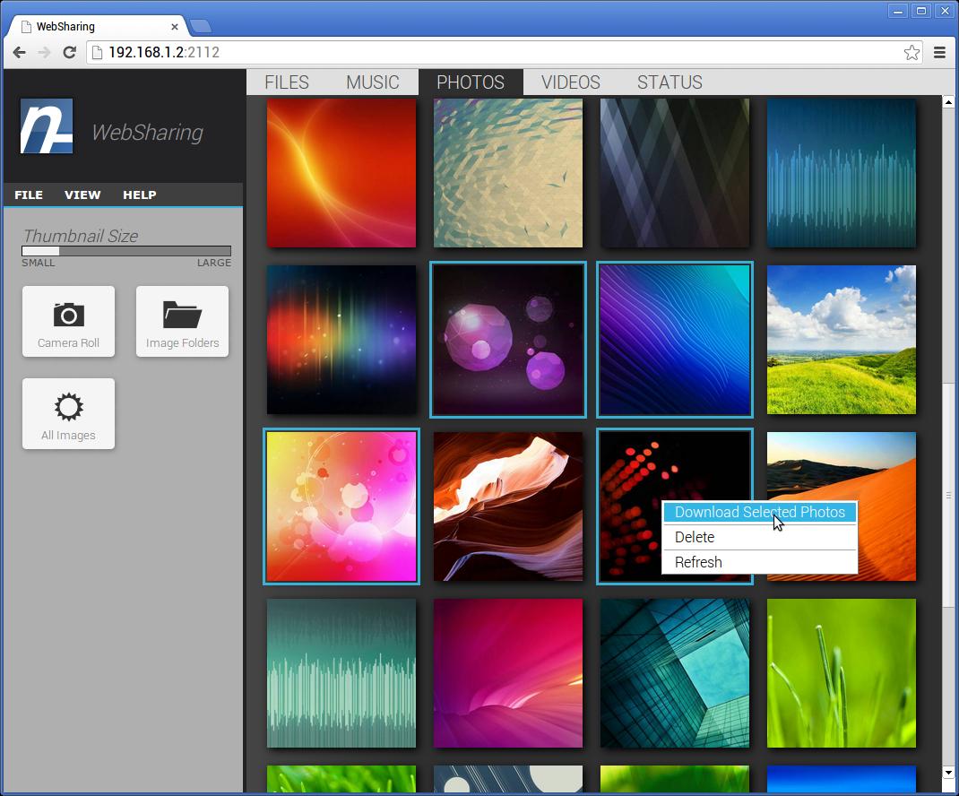 [SOFT]WEBSHARING : Affichage et transfert de fichiers media avec un navigateur Web [Gratuit/Payant][01.10.2013] Photos_Small